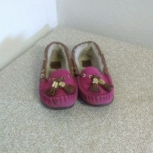 Tory Burch Pink Moccasins Loafers